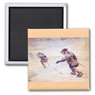 Laplanders in Snowstorm - Lappar i snostorm Refrigerator Magnets