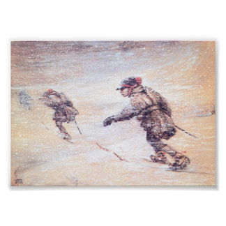 Laplanders in Snowstorm - Lappar i snostorm Poster