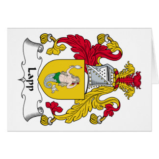 Lapp Family Crest Greeting Card