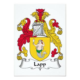 Lapp Family Crest 5x7 Paper Invitation Card