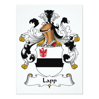 Lapp Family Crest 6.5x8.75 Paper Invitation Card