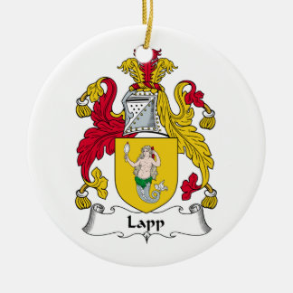 Lapp Family Crest Double-Sided Ceramic Round Christmas Ornament