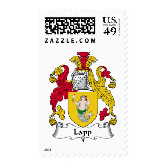 Lapp Family Crest Postage Stamps