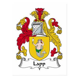 Lapp Family Crest Postcard