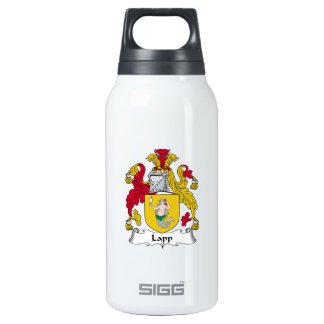 Lapp Family Crest 10 Oz Insulated SIGG Thermos Water Bottle