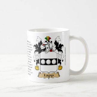 Lapp, the Origin, the Meaning and the Crest Classic White Coffee Mug