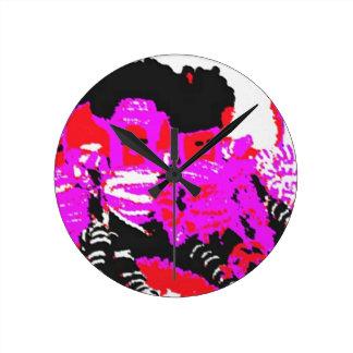 Lappenpop Rag Doll - Red Round Wall Clocks