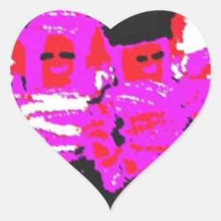 Lappenpop Rag Doll - Red Heart Sticker