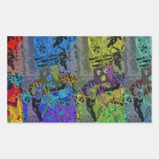 Lappenpop Rag Doll Rectangular Sticker