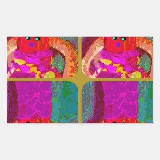 LAPPENPOP - SPINDEROK - RAG DOLL- 4.png Rectangular Sticker