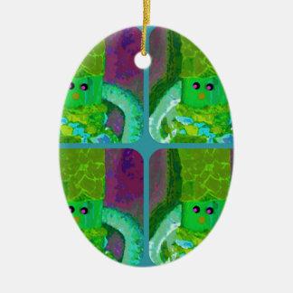 LAPPENPOP - SPINDEROK - RAG DOLL green 1.png Ceramic Ornament