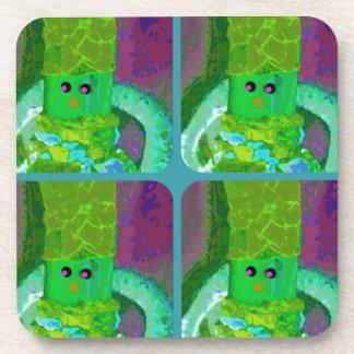 LAPPENPOP - SPINDEROK - RAG DOLL green 1.png Coasters