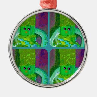 LAPPENPOP - SPINDEROK - RAG DOLL green 1.png Metal Ornament