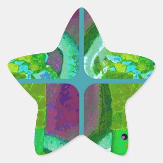 LAPPENPOP - SPINDEROK - RAG DOLL green 1.png Star Sticker