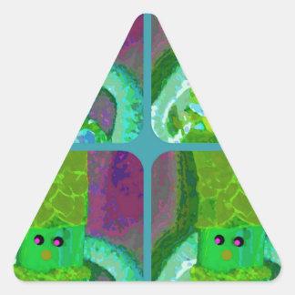 LAPPENPOP - SPINDEROK - RAG DOLL green 1.png Triangle Sticker