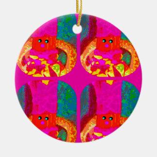 LAPPENPOP - SPINDEROK - RAG DOLL -MAGENTA - 1.png Ceramic Ornament