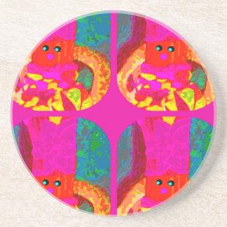 LAPPENPOP - SPINDEROK - RAG DOLL -MAGENTA - 1.png Coaster