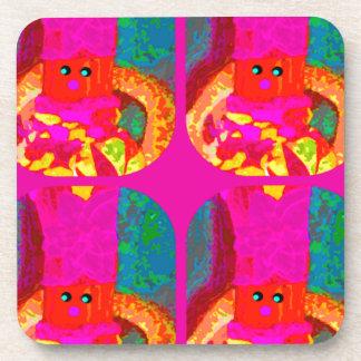 LAPPENPOP - SPINDEROK - RAG DOLL -MAGENTA - 1.png Drink Coaster
