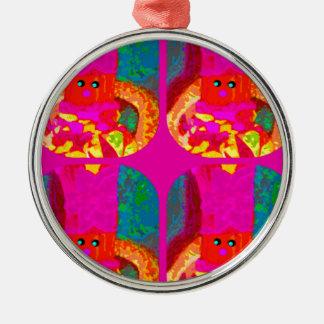 LAPPENPOP - SPINDEROK - RAG DOLL -MAGENTA - 1.png Metal Ornament