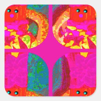 LAPPENPOP - SPINDEROK - RAG DOLL -MAGENTA - 1.png Square Sticker