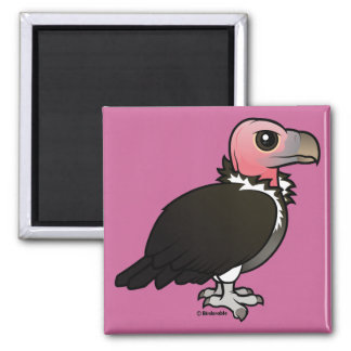 Lappet-faced Vulture 2 Inch Square Magnet