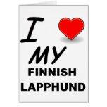 lapphund finlandés tarjeta