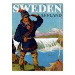 ~ Lappland de Suecia Tarjeta Postal