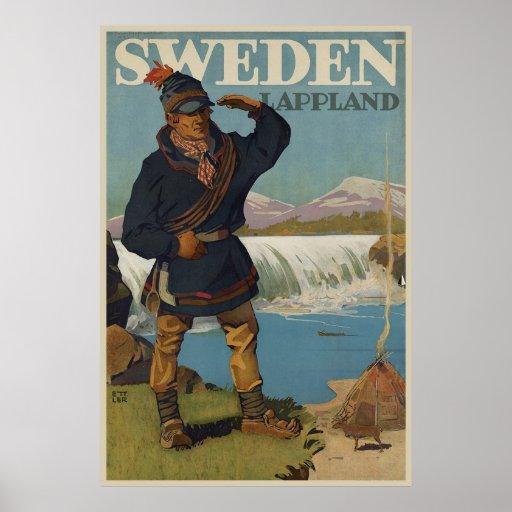 Lappland Suecia Póster