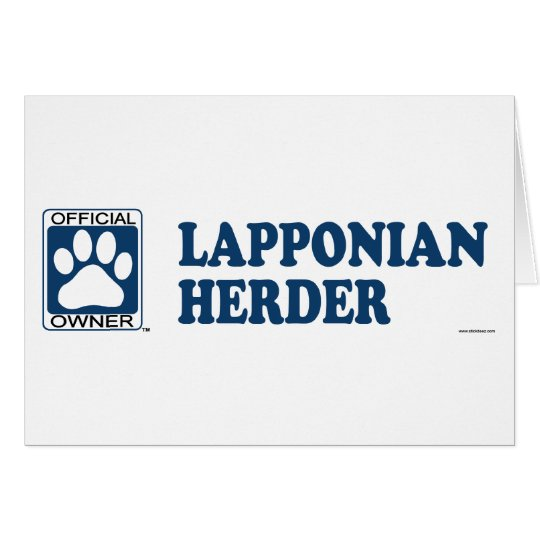 Lapponian Herder Blue Card