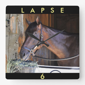 Lapse by Blame Square Wall Clock