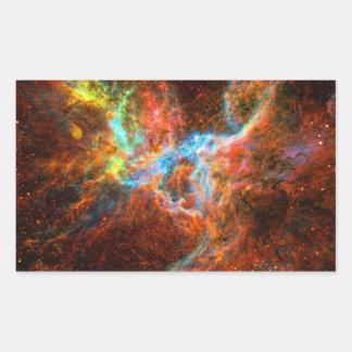 Lapso de tiempo del pulsar del cangrejo - estrella pegatina rectangular