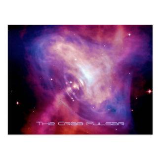 Lapso de tiempo del pulsar del cangrejo - estrella tarjetas postales