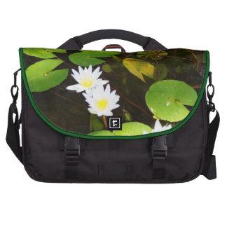 Laptop Bag Photo White Lily Pond