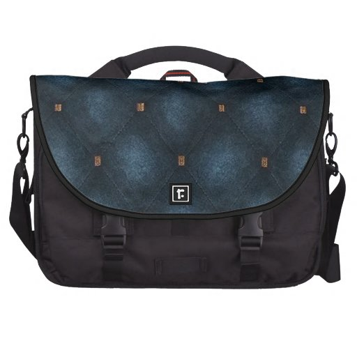 Laptop Bag with Dark Turquoise Quilted Flap