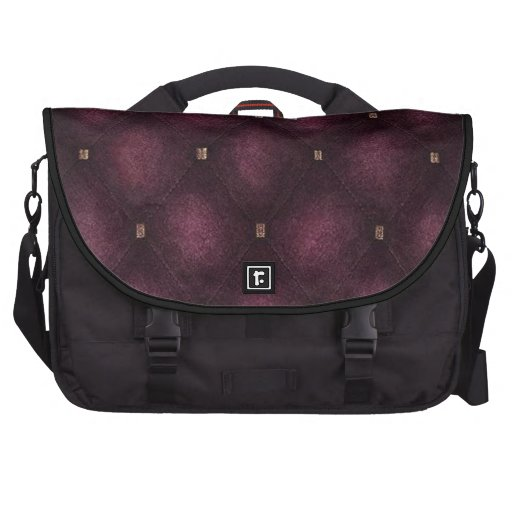 Laptop Bag with Deep Violet Quilted Flap