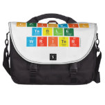 Periodic Table Writer  Laptop Bags