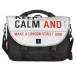 KEEP  CALM  Laptop Bags