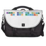 keep calm and love  jim ramos escuadro  Laptop Bags