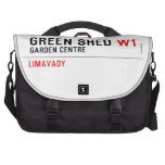 green shed  Laptop Bags