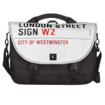 LONDON STREET SIGN  Laptop Bags