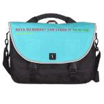 RAYA RD:NOBODY CAN CROSS IT  Laptop Bags