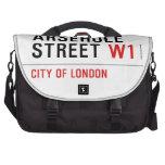 Arsehole Street  Laptop Bags