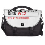 LONDON STREET SIGN  Laptop Bags