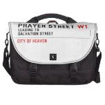 Prayer street  Laptop Bags