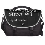 Your Name Street  Laptop Bags