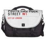 Pouts like fuck Street  Laptop Bags