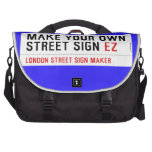 make your own street sign  Laptop Bags