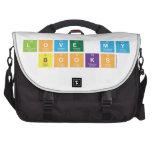 ı love my books  Laptop Bags