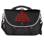 [Skull crossed bones] keep calm and schlemiel, schlimazel, hasenpfeffer incorporated!  Laptop Bags