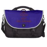 [Crown] keep calm and eat ice-cream  Laptop Bags